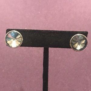 Round rhinestone post earrings.  3/$12 Sale